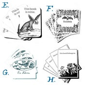 Image of Animal & Bird Bookplates in SETS of 8