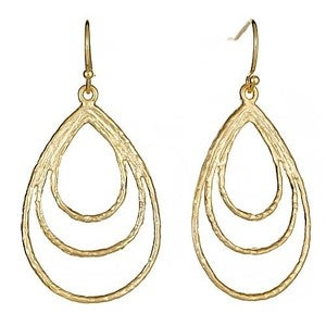 Image of Gold Tear Drop Earrings