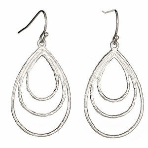Image of Silver Tear Drop Earrings