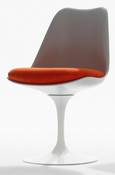 Image of Tulip Side Chair, White shell and base