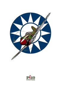 Image of P-40 Flying Tiger Print