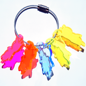 Image of Weather sKwirl™ Small Edge-Glow Acrylic Key Ring