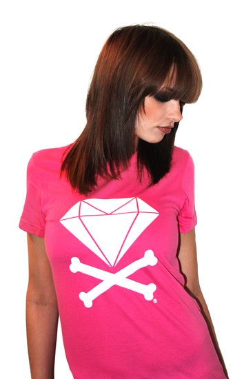 Image of Diamond &amp; Crossbones (Fuschia)