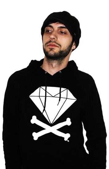 Image of Diamond &amp; Crossbones Hoodie (Black)