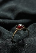 Image of Rhodolite GARNET in 14k gold filled stackable birthstone rings