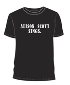 "Image of Alison Scott ""Alison Scott Sings"" T-Shirt"