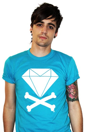 Image of Diamond &amp; Crossbones (Teal)