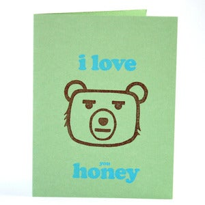 Image of I love you honey card