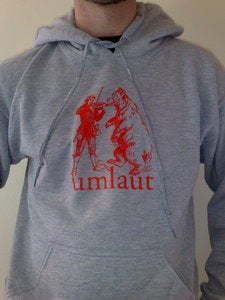 Image of Umlaut grey/red hoodie