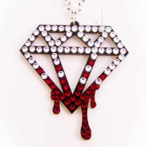 Image of Crystal Bleeding Diamond Necklace