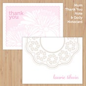 Image of Neapolitan Doily + Mum Deluxe Printable Stationery Set
