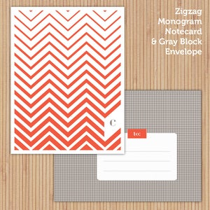 Image of Poppy Zigzag Printable Stationery Set