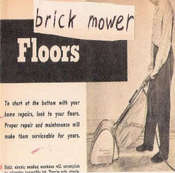 "Image of brick mower ""Floors"" CD"