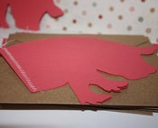 Image of  Piggy Stitched note card set