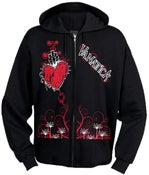 Image of Hearts and Daggers Zipper Hoodie