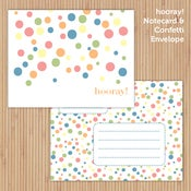 Image of hooray! Printable Notecard Set
