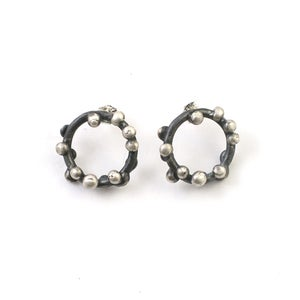Image of medium cosmos post earrings