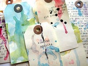 Image of 5 tags altrs / 5 altered tags