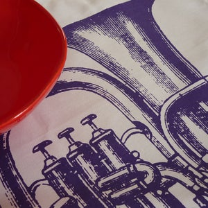 Image of Toot tea towel - plum