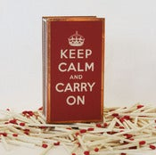 Image of Keep Calm and Carry On Matchbox