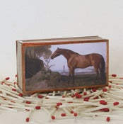 Image of 19th Century Bay Horse Matchbox
