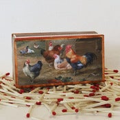 Image of Chickens in the Barnyard Matchbox