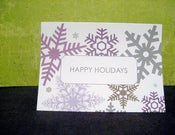 Image of Happy Holidays Snowflake note cards