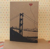 Image of Heart in SF note card set