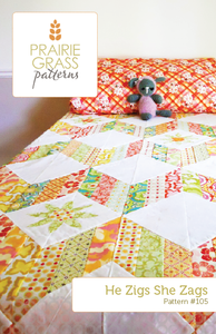 Image of He Zigs She Zags: Quilt Pattern #105