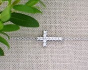 Image of Sideways Cross Necklace