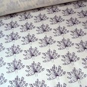 """Agapanthus"" hand printed yardage fabric: purple"