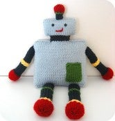 Image of Knit Toy Robot Pattern
