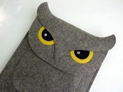 Image of Owl - iPad sleeve - MADE TO ORDER