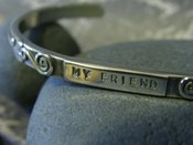 "Image of ""My Friend~You are the Sister I wish I had"" sterling bracelet"