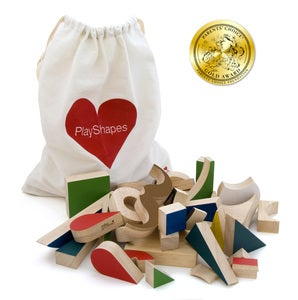 Image of PlayShapes 74 Wooden Blocks
