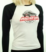 Image of Women's Plymouth Road Runner Dragstrip Girl Raglan Shirt