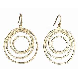 Image of Gold Layered Hoop Earrings