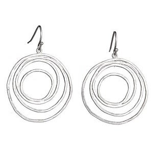 Image of Silver Layered Hoop Earrings