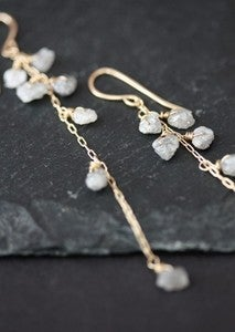 Image of Rough Diamond Cascade Earrings 