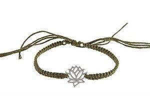 Image of Silver Lotus Link Friendship Bracelet