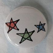 "Image of Count Your Lucky Stars ""Stars"" Button"
