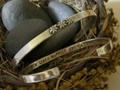 "Image of ""And She Lived Happily Ever After"" sterling cuff bracelet"