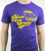 Image of Men's Plum Crazy Dodge Challenger Muscle Car T-Shirt