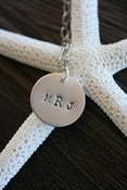 Image of Summer {the wedding monogram necklace}