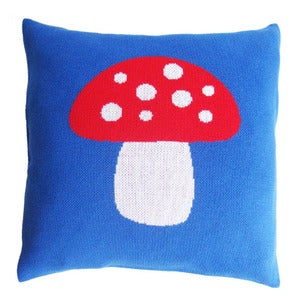 Image of Fairytale Forest- Blue Mushroom pillow case