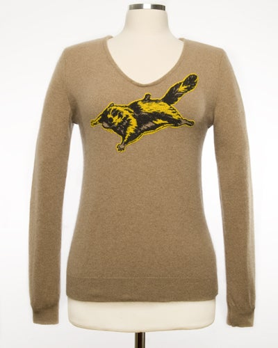 "Image of ""Nutsy"" Womens Cashmere Sweater - Light Brown Heather"