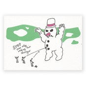 Image of SNOWMAN - CHRISTMAS CARD