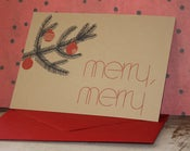 Image of Merry, Merry note card set