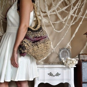 Image of quarry handspun purse.