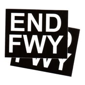 Image of END FWY - 2 Black &amp; White Vinyl Stickers